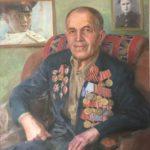 Портрет ветерана ВОВ Кукуева В.Ф. 2015г. 85х70 х.м.